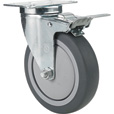 Fairbanks Swivel Total Locking Caster — 5in. x 1 1/4in., Model# 14035022 The price is $26.99.