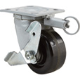 Fairbanks Swivel Double-Locking Caster — 4in., Model# 1522224170202 The price is $32.99.