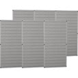 Wall Control Industrial Metal Pegboard — Gray, Six 16in. x 32in. Panels, Model# 35-P-3296GY The price is $169.99.