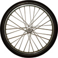 Marathon Tires Flat-Free Tire on Spoked Ball Bearing Wheel — 24in. x 2in.