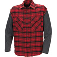 Marino Bay Cut-Off Flannel Shirt with Thermal Sleeves