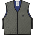 Ergodyne Men's Non-Rated High Visibility Chill-Its Evaporative Cooling Vest — Gray, Medium, Model# 6665