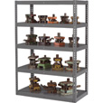 Tennsco Tool & Die Rack — 38in.W x 18in.D x 72in.H, 5-Shelf, Medium Gray, Model# RXHS-481872 The price is $349.99.