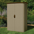 Suncast Vertical Storage Shed — 52 Cu. Ft., Model# BMS4500 The price is $419.99.