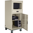Sandusky Lee Mobile Computer Cabinet — 30in.W x 30in.D x 70in.H, Putty, Model# 16CC303064-07 The price is $729.99.