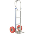 Vestil Aluminum Hand Truck with Built-In Work Bench — 500 Lb. Capacity, Red Foam Filled Tires, Model# ALUM-P-TB-UFRD The price is $379.99.