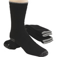 FREE SHIPPING - Gravel Gear Men's Ultra-Dri Steel Toe Crew Socks - Black, Three Pairs The price is $7.79.