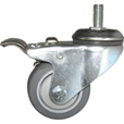 Fairbanks Thermoplastic Rubber Total Lock Swivel Caster — 225-Lb. Capacity, 4in., Model# TL-S11-03-4TPR The price is $21.99.