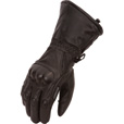 First Classics Men's Waterproof Gauntlet Gloves with Carbon Fiber Knuckles — Black, Model# FI143