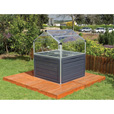 Palram Plant Inn Raised Garden Greenhouse, Model# HG3320 The price is $424.99.
