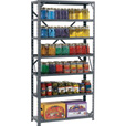Edsal Steel Canning Shelving — 7 Shelves, 30in.W x 12in.D x 60in.H, Model# HC30127 The price is $24.99.