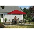 ShelterLogic Pop-Up Outdoor Canopy Tent — 12ft. x 12ft., Open Top, Slant Leg, Red, Model# 22547