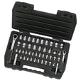 GearRatchet Drive Set — 1/4In. and 3/8In. Drives, 46-Pc. SAE and Metric Set, Model# EHT8946