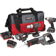 FREE SHIPPING — Porter Cable 18 Volt Lithium-Ion 4-Tool Combo Kit, Model# PCL418IDC-2