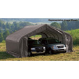 ShelterLogic Peak Style Double Wide Garage/Storage Shelter — Gray, 28ft.L x 22ft.W x 11ft.H, 2 3/8in. Frame, Model# 78731 The price is $1,999.99.