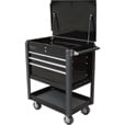 Homak 4-Drawer Industrial Service Cart — Black, Model# BK06032000 The price is $399.99.
