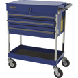 Homak 3-Drawer Industrial Service Cart — Blue, Model# BL05500200 The price is $349.99.