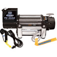 Superwinch Tiger Shark 12 Volt DC Powered Electric Truck Winch with Remote — 9500-Lb. Capacity, Wire Rope, Model# 1595200 The price is $349.99.