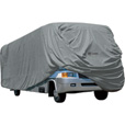 Classic Accessories OverDrive PolyPro 1 RV Cover — Gray, Fits 28ft.L–30ft.L x 122in.H Class A RVs, Model# 80-162-171001-00 The price is $149.99.