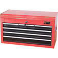 Excel Tool Chest — 26in., 6 Drawers, Model# TB2040BBSA-RED