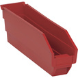 Quantum Storage Economy Shelf Bins — 11 5/8in. x 2 3/4in. x 4in. Size, Red, Carton of 36, Model# QSB 100 R The price is $64.99.