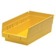 Quantum Storage Economy Shelf Bins — 11 5/8in. x 6 5/8in. x 4in. Size, Yellow, Carton of 30, Model# QSB 102 Y The price is $74.99.
