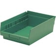 Quantum Storage Economy Shelf Bin — 11 5/8in. x 8 3/8in. x 4in. Size, Green, Carton of 20, Model# QSB 103 GN The price is $57.99.