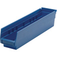Quantum Storage Economy Shelf Bins — 17 7/8in. x 4 1/8in. x 4in. Size, Blue, Carton of 20, Model# QSB 103 B The price is $54.99.