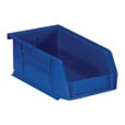 Quantum Storage Heavy Duty Stacking Bins — 10 7/8in. x 5 1/2in. x 5in. Size, Blue, Carton of 12 The price is $54.99.