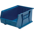 Quantum Storage Heavy Duty Stacking Bins — 16in. x 11in. x 8in. Size, Blue, Carton of 4 The price is $54.99.