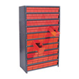 Quantum Storage Closed Metal Shelving Unit With 72 Super Tuff Drawers — 12in. x 36in. x 75in. Rack Size, Red, Model# CL1275-601 R The price is $519.99.
