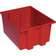 Quantum Storage Stack and Nest Tote Bin — 19 1/2in. x 15 1/2in. x 10in. Size, Carton of 6