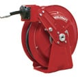 Reelcraft Dual Pedestal Hose Reel — With 1/2in. x 50ft. PVC Hose, Max. 300 PSI, Model# DP7850 OLP