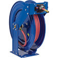 Coxreels Truck Series Maximum-Duty Air Hose Reel — With 1/2in. x 50ft. PVC Hose, Max. 300 PSI, Model# TSH-N-450