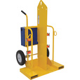 Vestil Welding Cylinder Cart with Fork Pockets — 500-Lb. Capacity, Foam-Filled Wheels, Powder-Coat Finish, Model# CYL-2-FF The price is $659.99.