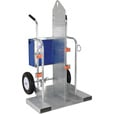 Vestil Welding Cylinder Cart with Fork Pockets — 500-Lb. Capacity, Foam-Filled Wheels, Galvanized Finish, Model# CYL-2-FF-G The price is $779.99.