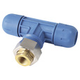 RapidAir FastPipe Fitting — 1in. Reducing Tee x 1/2in. Female NPT, Model# F2009 The price is $29.99.