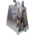 Triton Stainless Steel LocBoard Mobile Tool Cart — 60 Hooks, Model# LBC-18SH
