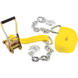 SmartStraps Double J-Hook Ratchet Tie-Down – 27ft. x4in., 16,200Lb. Capacity, Includes 18in. Chain, Model# 267