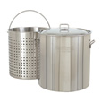 Bayou Classic Stainless Steel Boiler Pot — 102-Qt. Capacity, Model# 1102