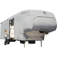 Classic Accessories OverDrive PermaPro Heavy-Duty RV Cover — Gray, Fits 20ft.L-23ft.L x 122in.H 5th Wheel RVs, Model# 80-122-151001-00 The price is $327.99.