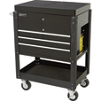 Homak Pro Series Service Cart with Sliding Top Panels — 35in.