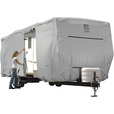 Classic Accessories OverDrive PermaPro Heavy-Duty RV Cover — Gray, Fits 27ft. to 30ft. x 118in.H Travel Trailers, Model# 80-138-181001-00 The price is $359.99.