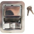 Buyers Stainless Steel Rotary Paddle Latch with Blind Studs & Gasket — 4 1/4in x 5 1/2in. x 2 1/8in.D The price is $29.99.