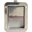 Buyers Stainless Steel (Non-Locking) Flush Paddle Latch — Fits 3 3/8in. x 4 5/8in. Recess The price is $19.99.