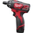 FREE SHIPPING — Milwaukee M12 Cordless Subcompact Driver — 12 Volt, 1/4in., Model# 2401-22 The price is $79.00.
