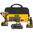 FREE SHIPPING — DEWALT 20V Cordless 1/4In. Impact Driver/Reciprocating Saw Premium Combo Kit — With 2 Batteries, Model# DCK298L2