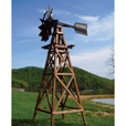 Outdoor Water Solutions Deluxe Windmill Aerator —  19Ft., Wood, Model# WTW0114 The price is $2,499.99.