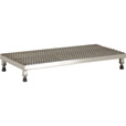 Vestil Adjustable Serrated Work-Mate Stand — 48in.W x 19in.D, Stainless Steel, Model# AHW-L-1948-SS The price is $1,029.99.