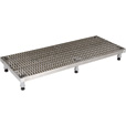 Vestil Adjustable Serrated Work-Mate Stand — 60in.W x 24in.D, Stainless Steel, Model# AHW-L-2460-SS The price is $1,379.99.